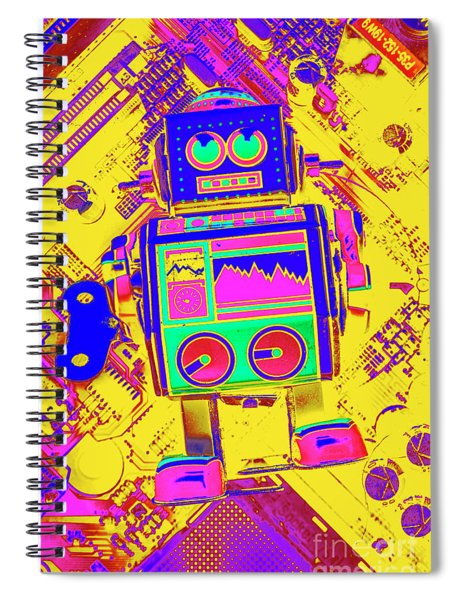 Automated Nostalgia Spiral Notebook
