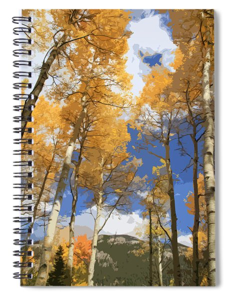 Autumn Aspens In The Rockies Spiral Notebook