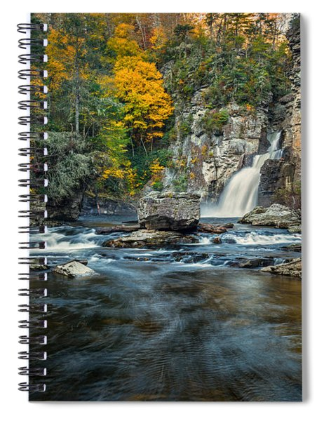 Autumn At Linville Falls - Linville Gorge Blue Ridge Parkway Spiral Notebook