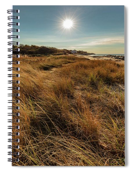 Autumn At The Beach Cape Cod Spiral Notebook