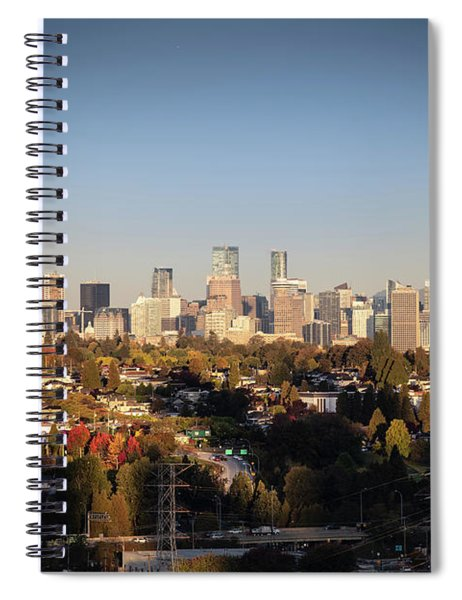 Autumn At The City Spiral Notebook