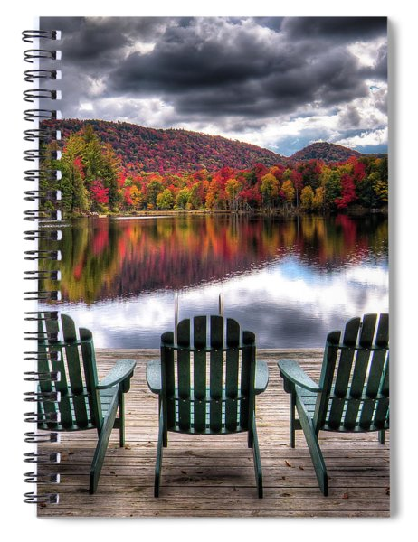 Autumn At The Lake Spiral Notebook