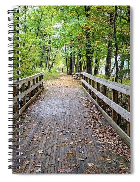 Autumn Bridge Spiral Notebook