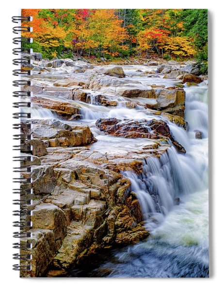 Autumn Color At Rocky Gorge Spiral Notebook