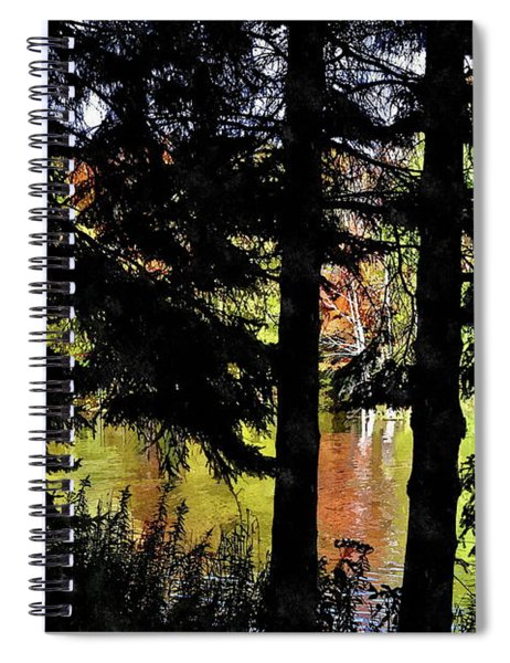 Autumn Colors At The Spa  Spiral Notebook