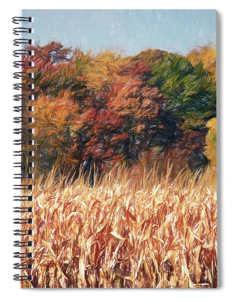 Autumn Cornfield Spiral Notebook