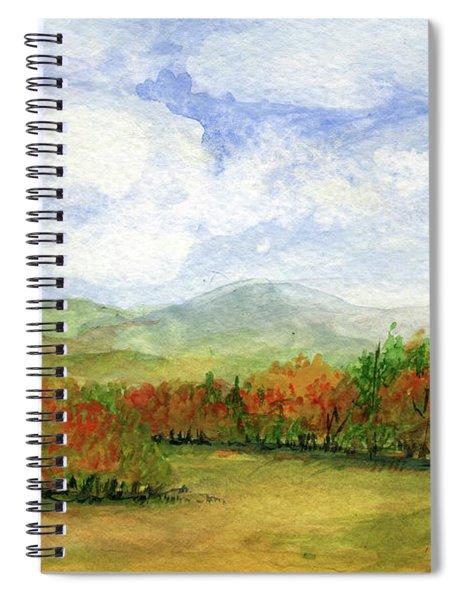 Autumn Day Watercolor Vermont Landscape Spiral Notebook