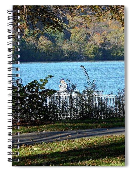 Autumn Fishing Spiral Notebook