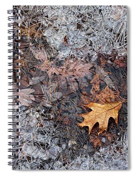 Autumn Freezing Over Spiral Notebook