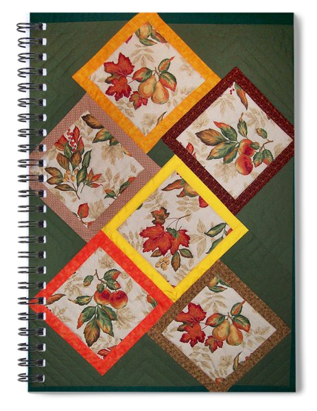 Autumn Fruit And Leaves Spiral Notebook