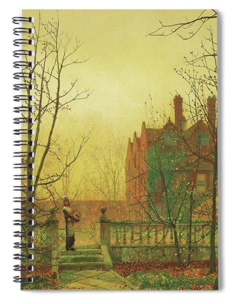 Autumn Gold By John Atkinson Grimshaw 1880 Spiral Notebook by John Atkinson Grimshaw