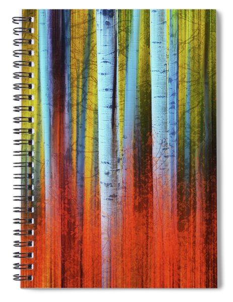 Autumn In Color Spiral Notebook by John De Bord