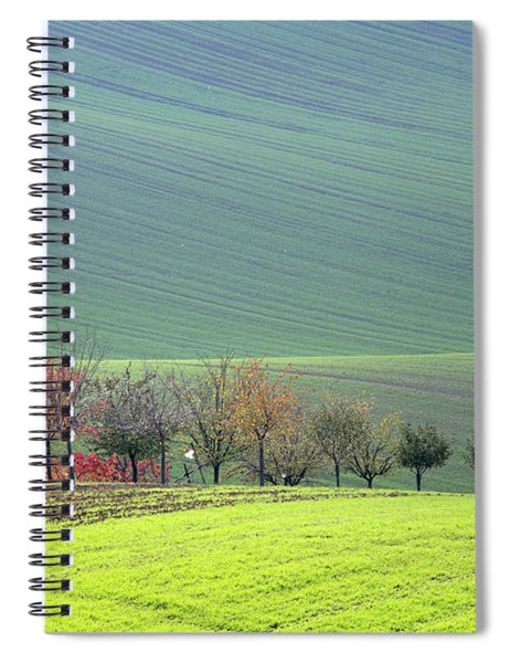 Autumn In South Moravia 18 Spiral Notebook