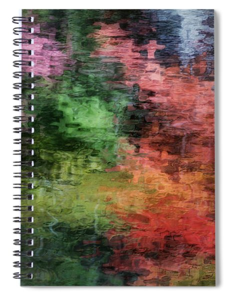Spiral Notebook featuring the photograph Autumn Lake Reflections by Andrea Platt