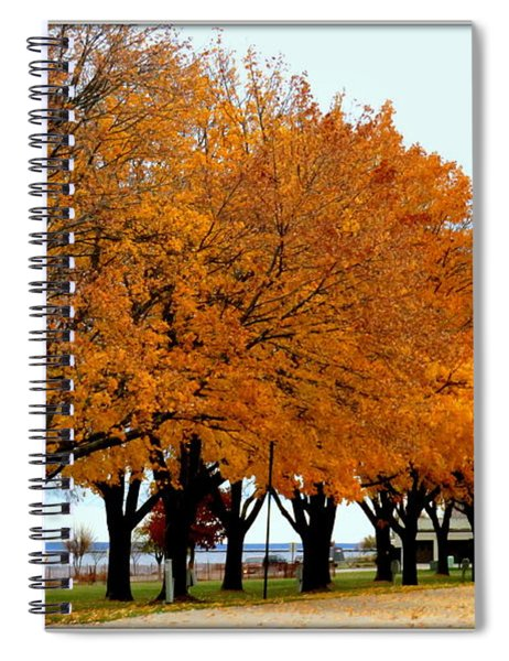 Autumn Leaves In Menominee Michigan Spiral Notebook