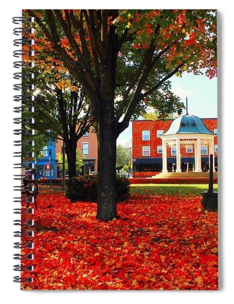 Autumn Main Street Spiral Notebook