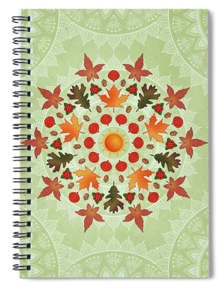 Autumn Mandala Spiral Notebook