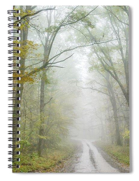 Autumn Mist Monongahela National Forest Spiral Notebook