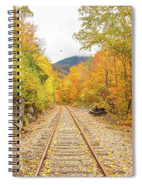 Autumn On Crawford Notch Railway Spiral Notebook
