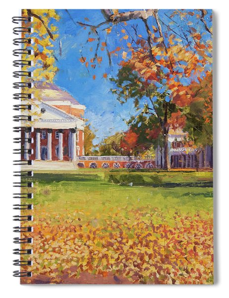 Autumn On The Lawn Spiral Notebook