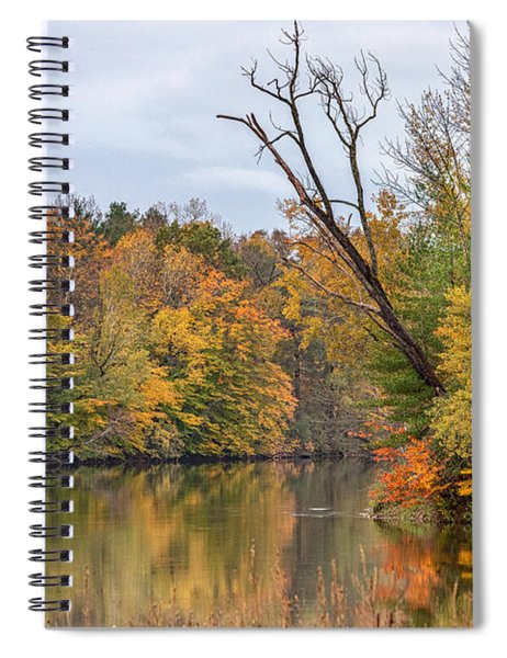 Spiral Notebook featuring the photograph Autumn On The Oswego River by Rod Best