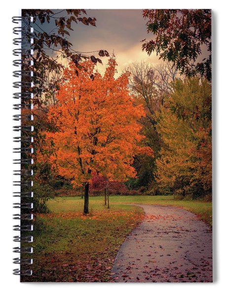 Autumn On The Trail Spiral Notebook by Allin Sorenson