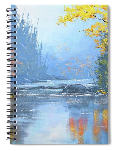 Autumn River Trees Spiral Notebook