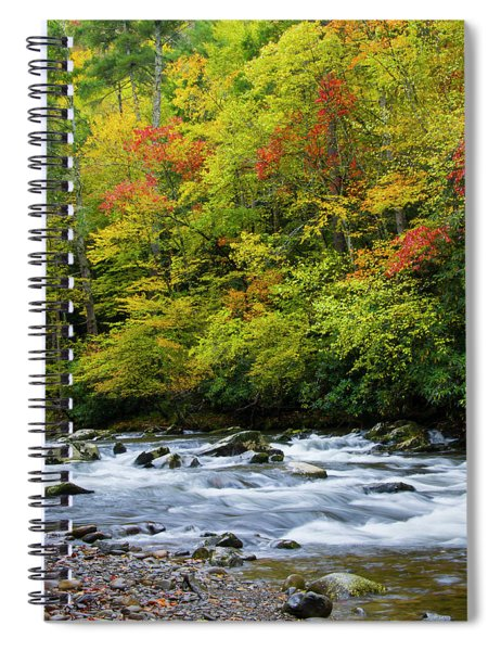 Autumn Stream Spiral Notebook