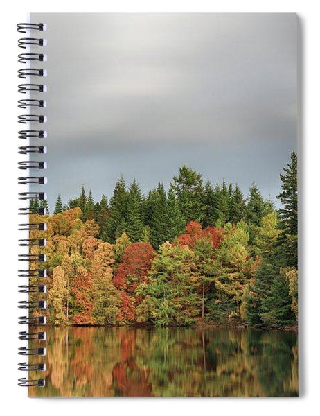 Autumn Tree Reflections Spiral Notebook