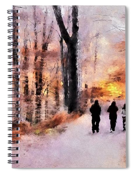 Autumn Walkers Spiral Notebook