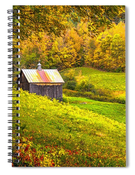 Spiral Notebook featuring the photograph Autumnal Barn by Rod Best