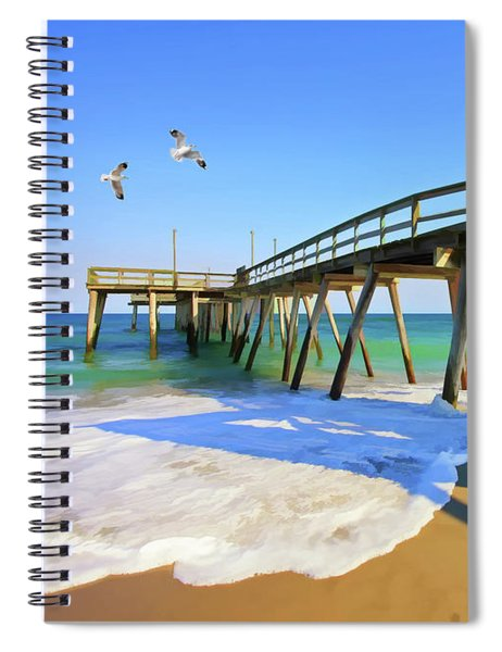 Avalon Pier Spiral Notebook