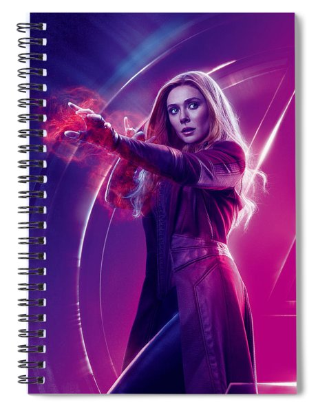 Avengers Scarlet Witch  Marvel Cinematic Universe Spiral Notebook