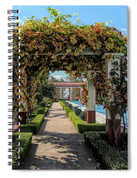 Awesome Getty Villa Landscape Walkway Pool California  Spiral Notebook