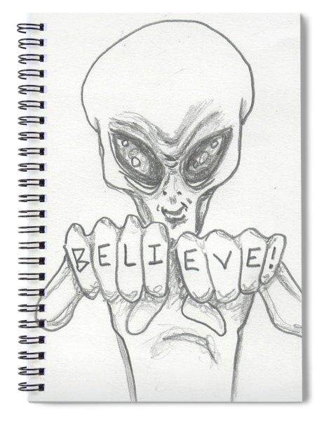 B-e-l-i-e-v-e Spiral Notebook