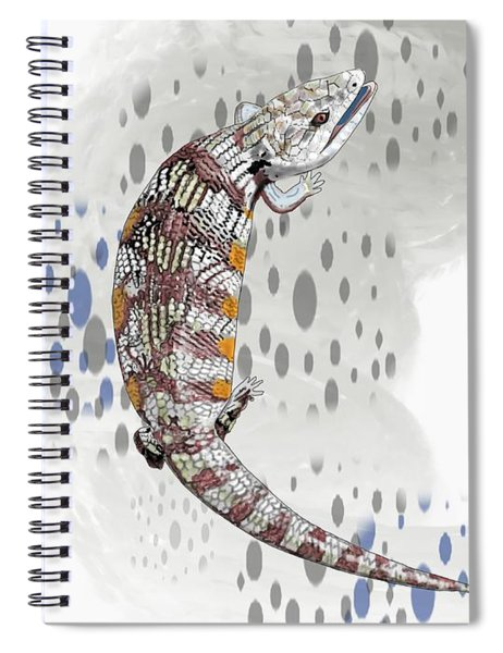 B Is For Blue Tongue Lizard Spiral Notebook