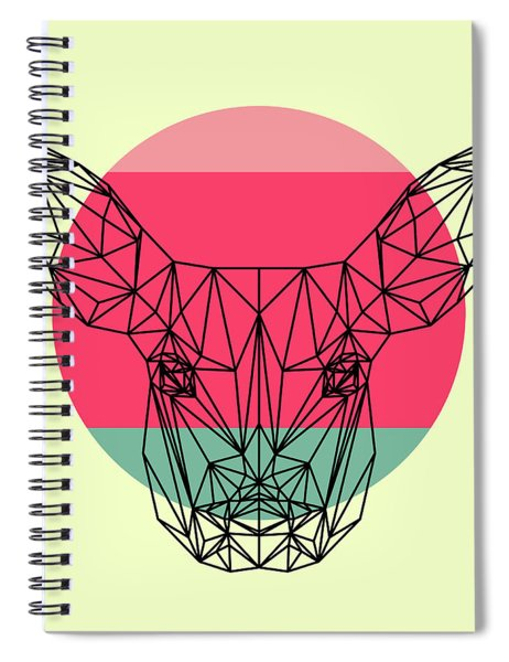 Baby Deer And Sunset Spiral Notebook