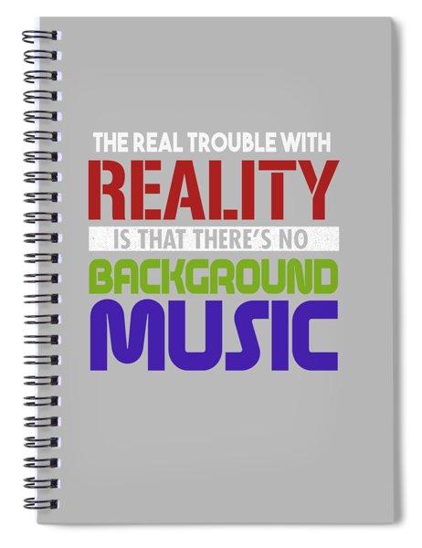 Background Music Spiral Notebook
