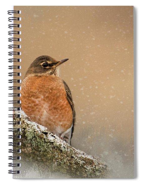 Backyard Visitor Spiral Notebook