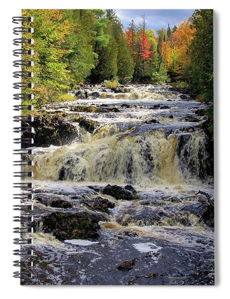Bad River Cascade Spiral Notebook