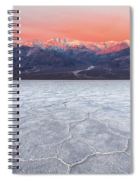 Badwater Basin Alpenglow Spiral Notebook