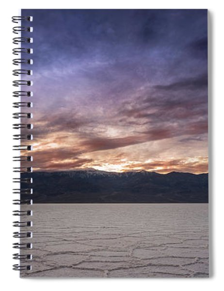 Badwater Basin Salt Flats Death Valley California Spiral Notebook