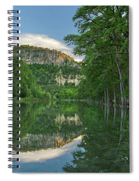 Bald Cypress Trees Along River, Frio Spiral Notebook