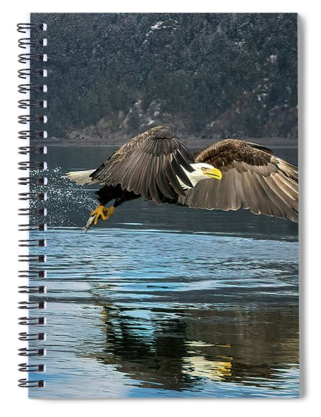 Bald Eagle With Catch Spiral Notebook