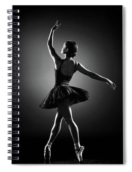Ballerina Dancing Spiral Notebook