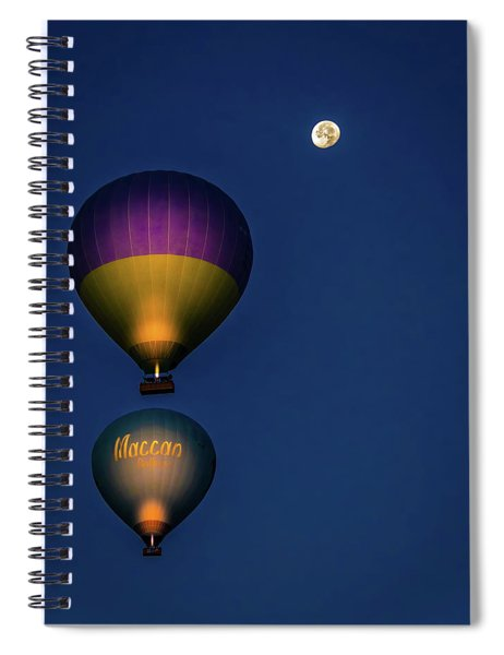 Balloons And The Moon Spiral Notebook