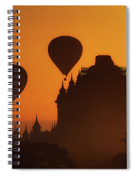 Balloons Over Began At Sunrise Spiral Notebook