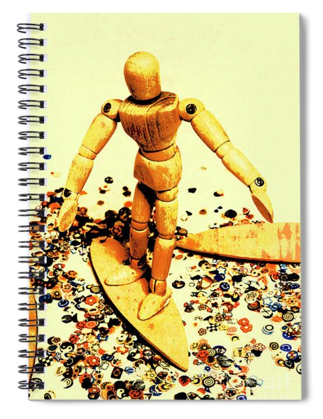 Balsa Boarder 1970 Spiral Notebook