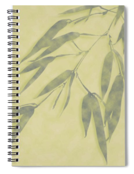 Bamboo Leaves 0580b Spiral Notebook