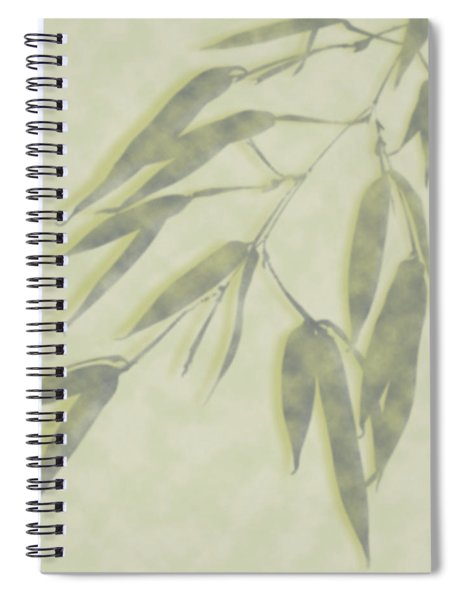 Bamboo Leaves 0580c Spiral Notebook